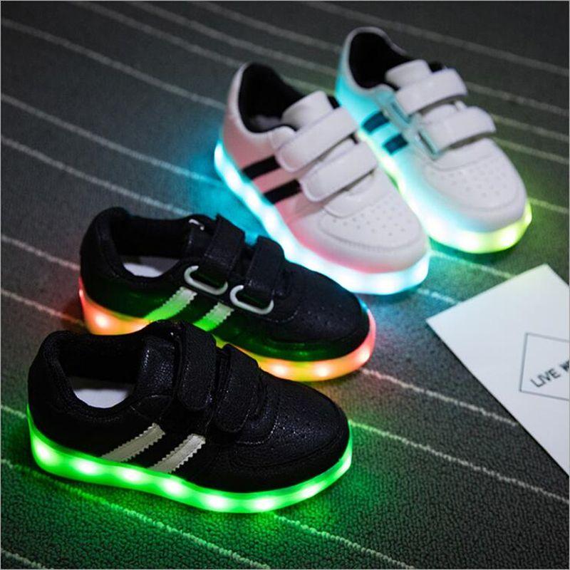 Comprar Moda Levou Carregamento Usb Luminosa Iluminado Sapatilhas Das Criancas Sapatilhas Criancas Menino Meninas Colorido Lu Prince Shoes Kids Shoes Kid Shoes