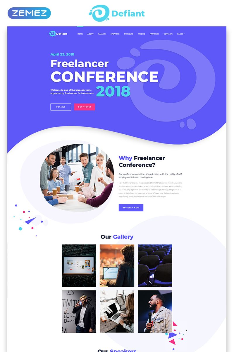 Conference Responsive Html Template Event Website Conference Design Website Template