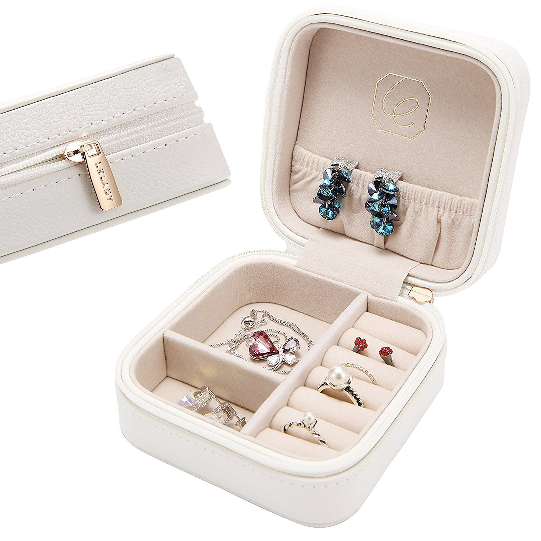Small Jewellery Box Jewellery Organiser Jewellery Case For Women Girls Ladies As Gifts Mini Size Leather Jewelry Box Travel Jewelry Box Small Jewelry Box