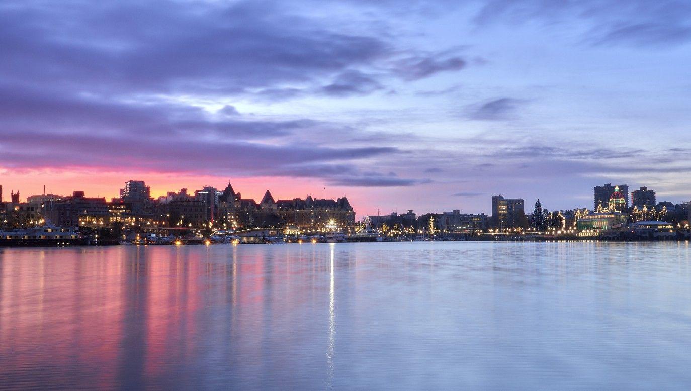 #sunrise over #VictoriaBC #innerharbour