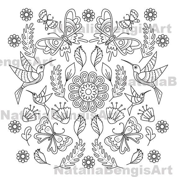 Adult Coloring Page,Printable Coloring Page, Kids and Adults