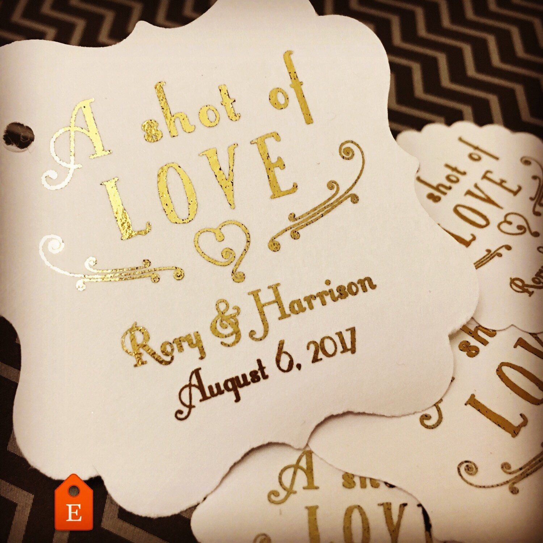 wedding favor tags favor tags shot of love shot favors favors