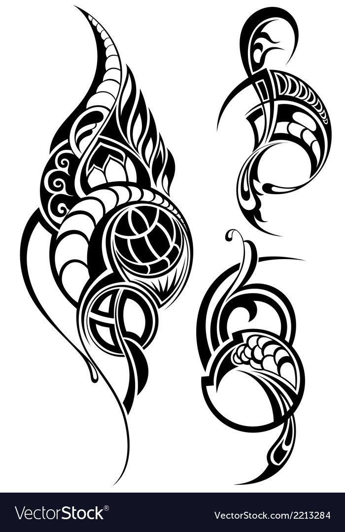 Design Ornamental Elements Download A Free Preview Or High Quality Adobe Illustrator Ai Eps Pdf And High Resol Maori Tattoo Tribal Tattoos Polynesian Tattoo
