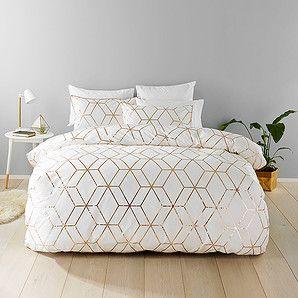 Harlow Quilt Cover Set Target Australia Rose Gold Bedroom Gold Bedroom Black Bedroom Furniture