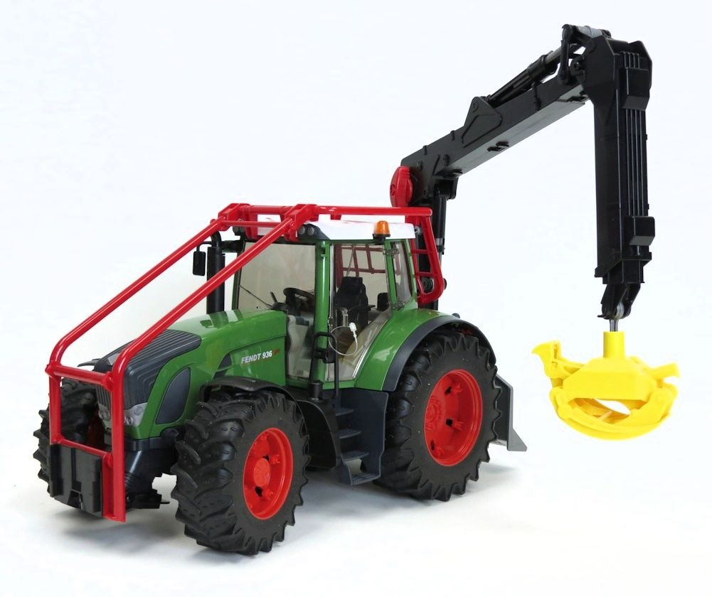 1 16th Fendt 936 Forestry Tractor W Sweeps And Log Loader Tractors Farm Toys Forestry