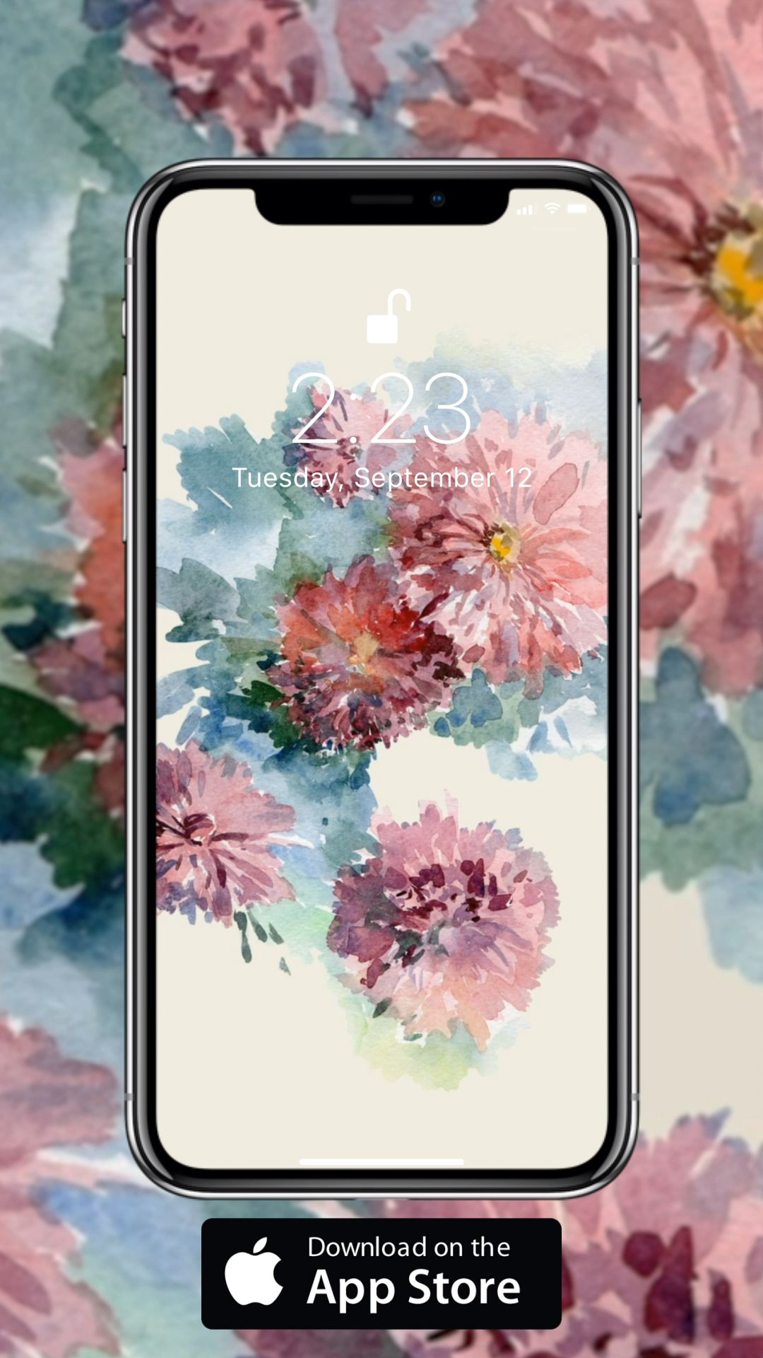 Painting live wallpaper for your iPhone XS from Everpix
