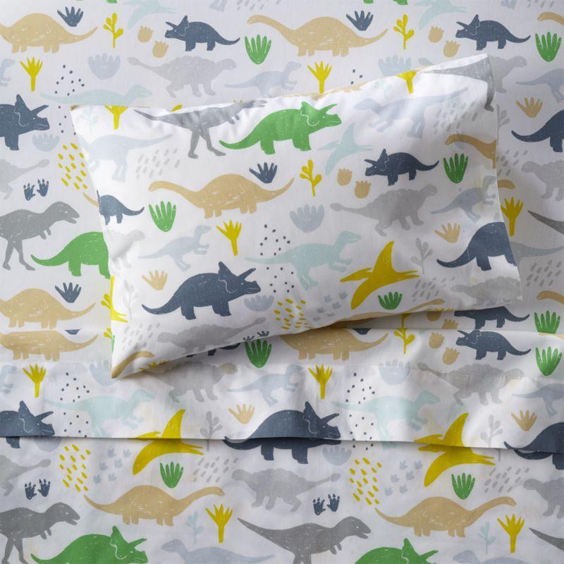 Organic Dinosaur Toddler Sheet Set Reviews Crate And