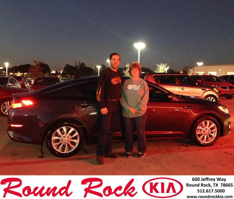 Congratulations to Sandy Allen on your #Kia #Optima purchase from Jorge Benavides at Round Rock Kia! #NewCar