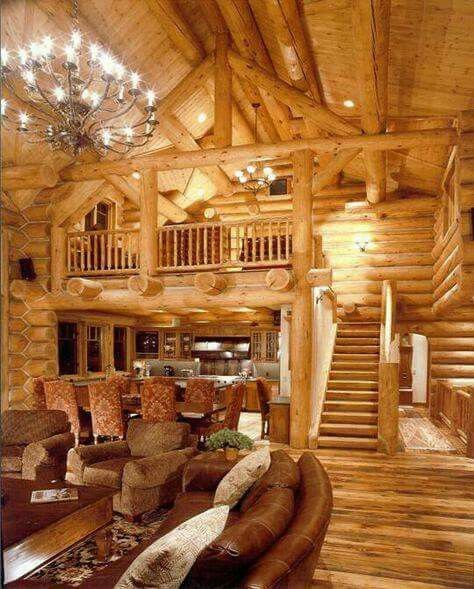 Log Cabin Kitchen Decor: This Has To Be My Future Living Room.
