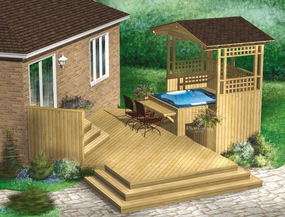 Cet été, profitez d\u0027une immense terrasse en bois à plusieurs niveaux