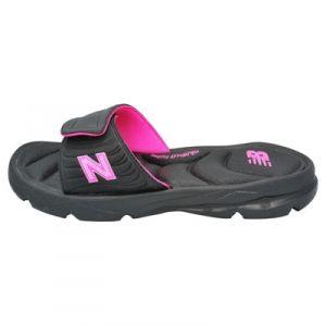 New Balance Womans Plush20 Slide - Black/Pink - Mills Fleet Farm