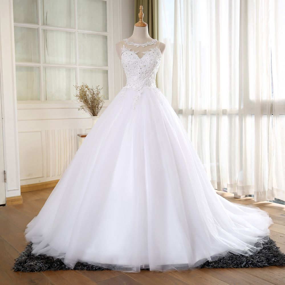 S432 Ball Gown Vintage Wedding Dress With Pearls Princess Pearl Wedding Dress New Bridal Dresses Ball Gowns Wedding [ 1000 x 1000 Pixel ]