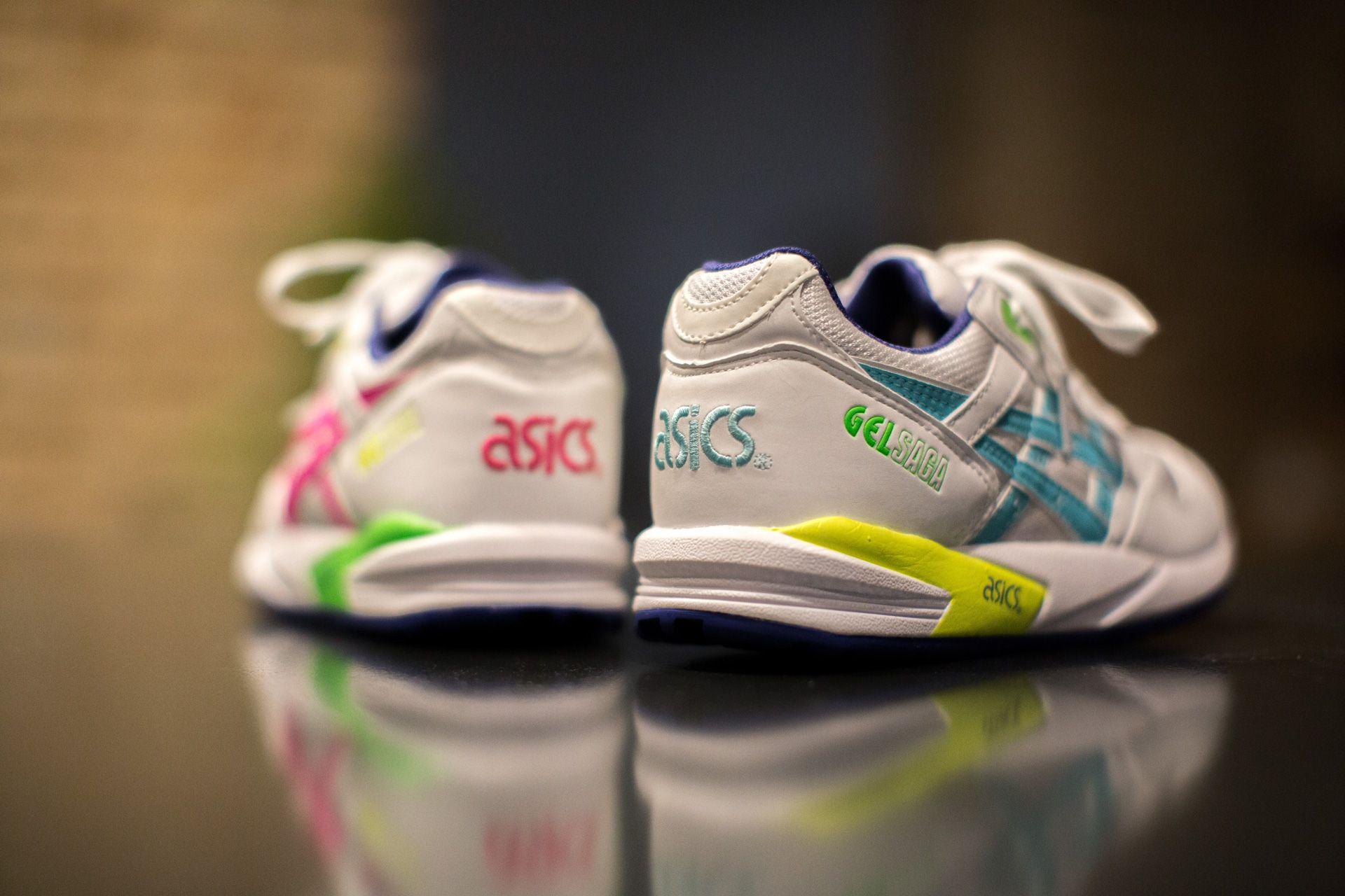 ASICS GEL SAGA WHITE/PINK available at www.tint-footwear.com ...