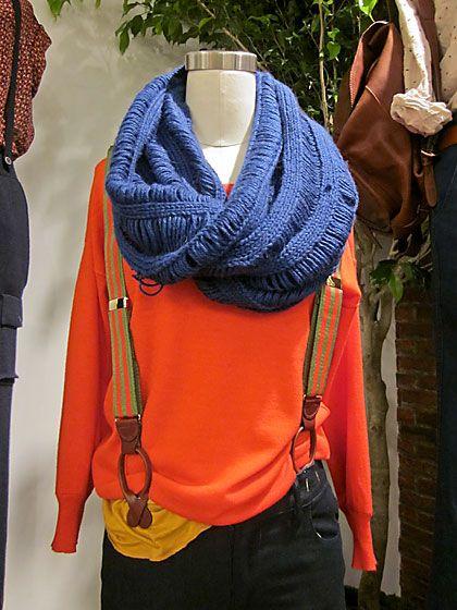 dropped garter stitch cowl. cozy!