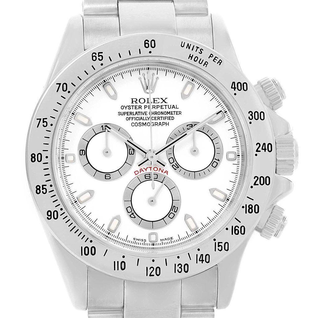 16741P Rolex Cosmograph Daytona White Dial Chronograph