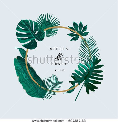 Trendy tropical leaves vector design tropical pinterest - Schablone wandmalerei ...