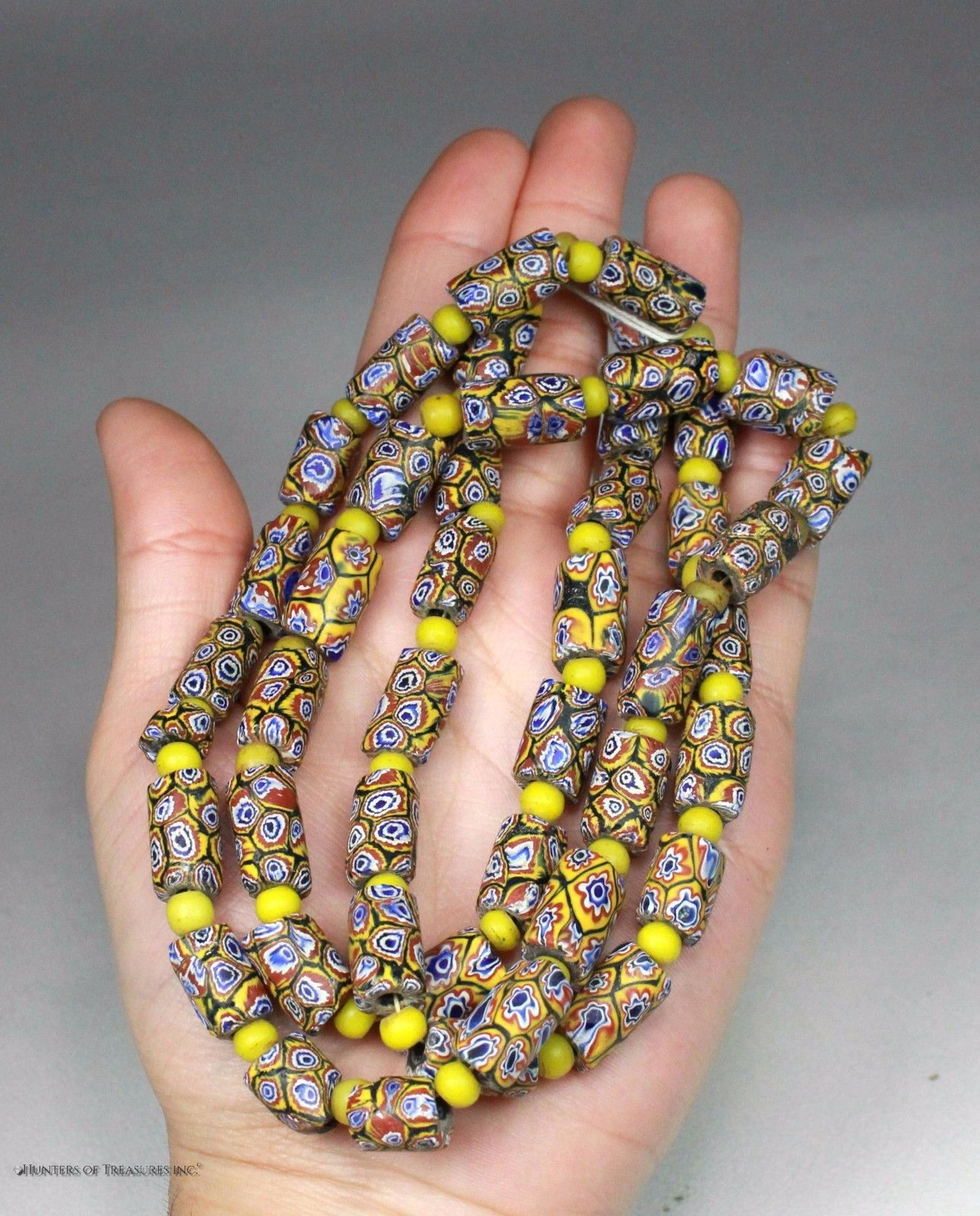 Antique Venetian Millefiori Native American Indian Trade Beads Ny Ebay