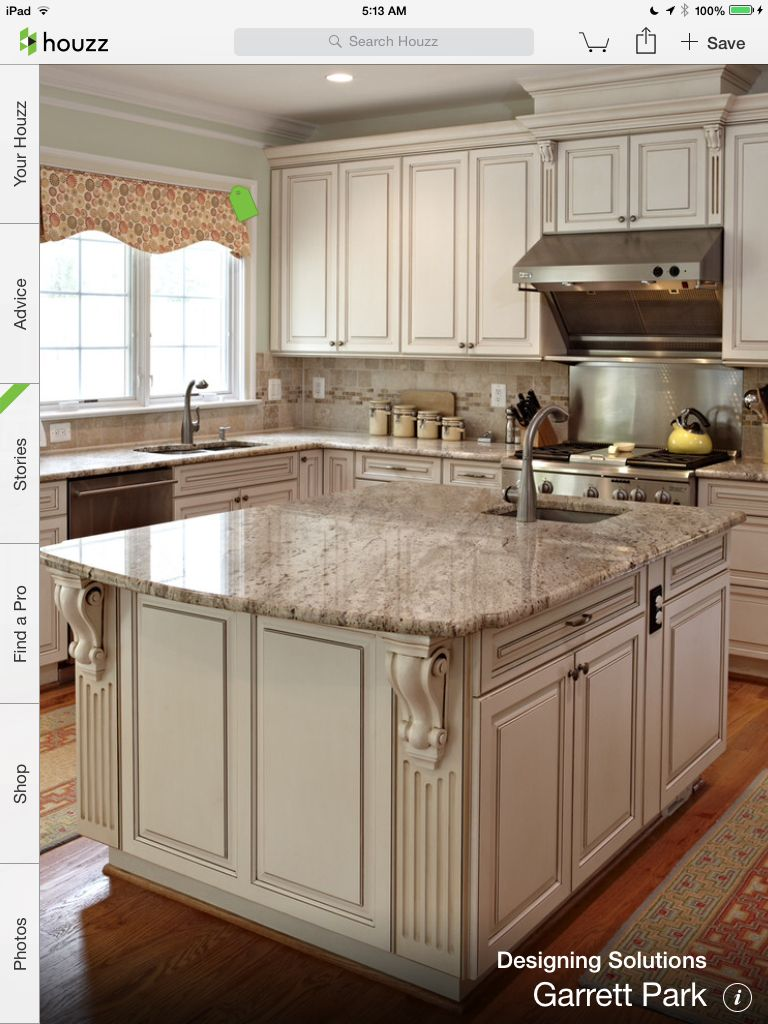 Cream Kitchen Antique White Kitchen Antique White Kitchen Cabinets Eclectic Kitchen