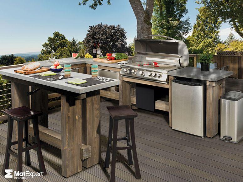 Cuisines extérieures - Foyer Rustique 4695 CUISINE EXTÉRIEURE - photo cuisine exterieure jardin