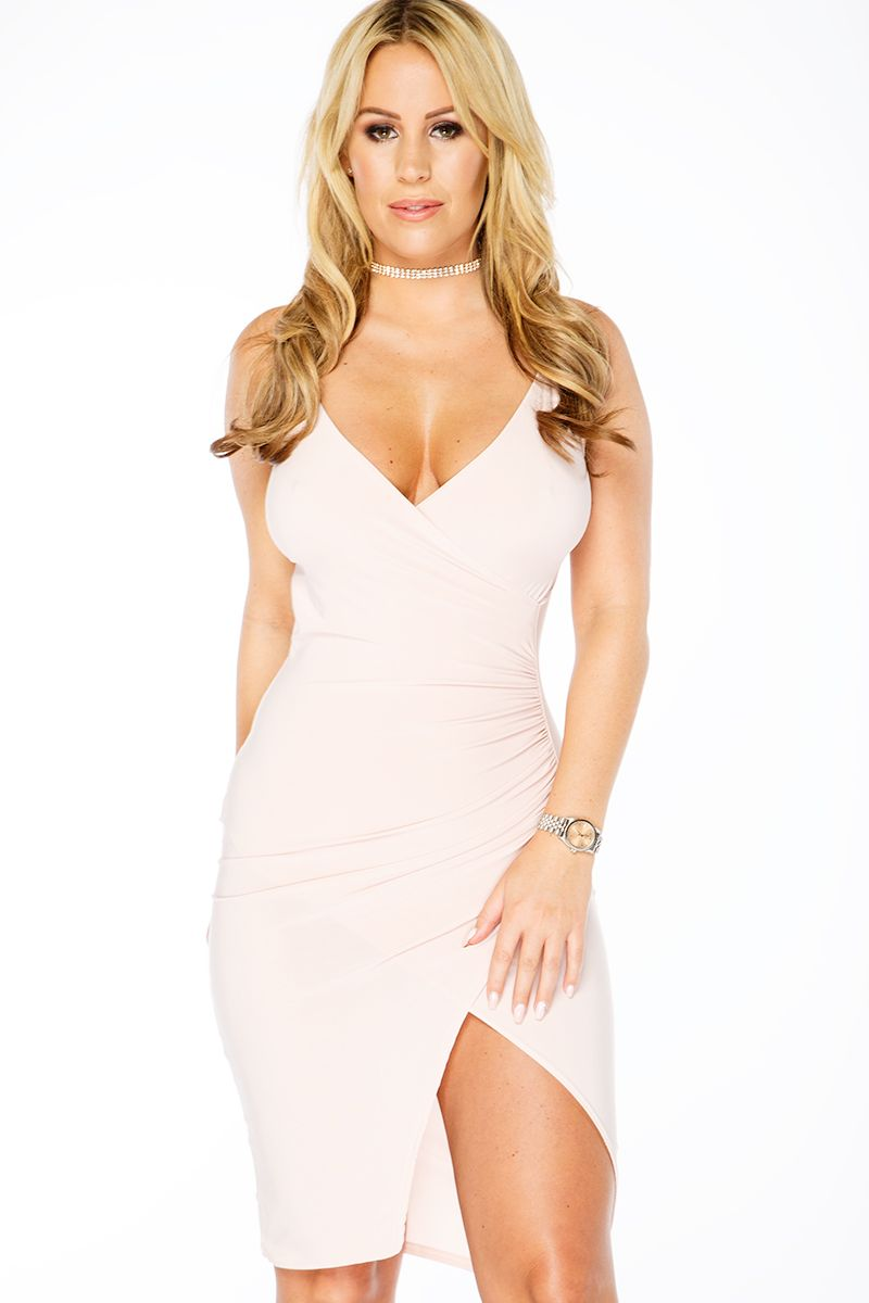 Kate Wright Nude Ruched Split Dress Nude Tg Stories And