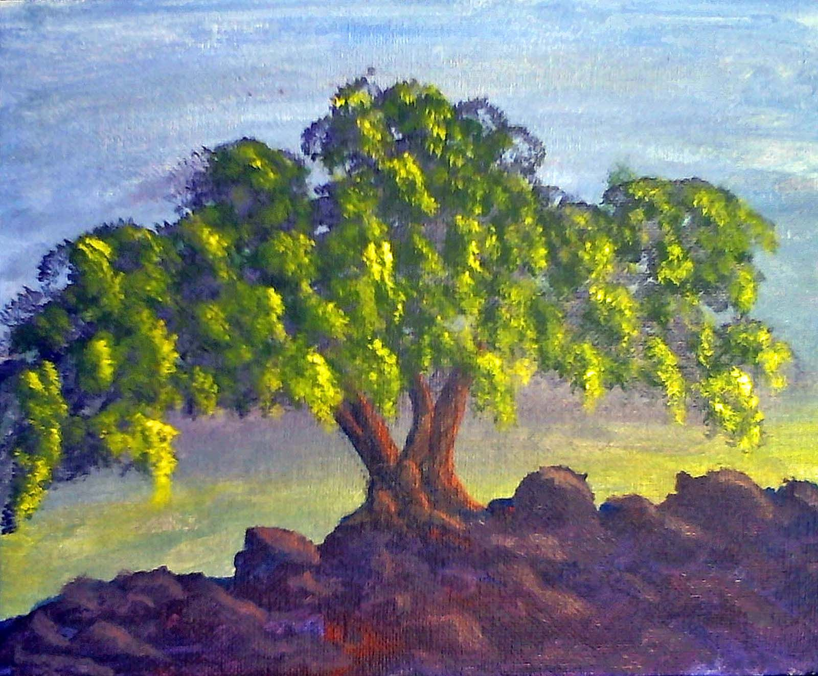 Tree Landscape Painting Watercolor Paintings For Beginners Watercolor Paintings Easy Landscape Paintings
