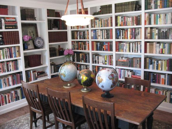 Dining Room And Library Combined Bookshelves Home Libraries Pinterest Room