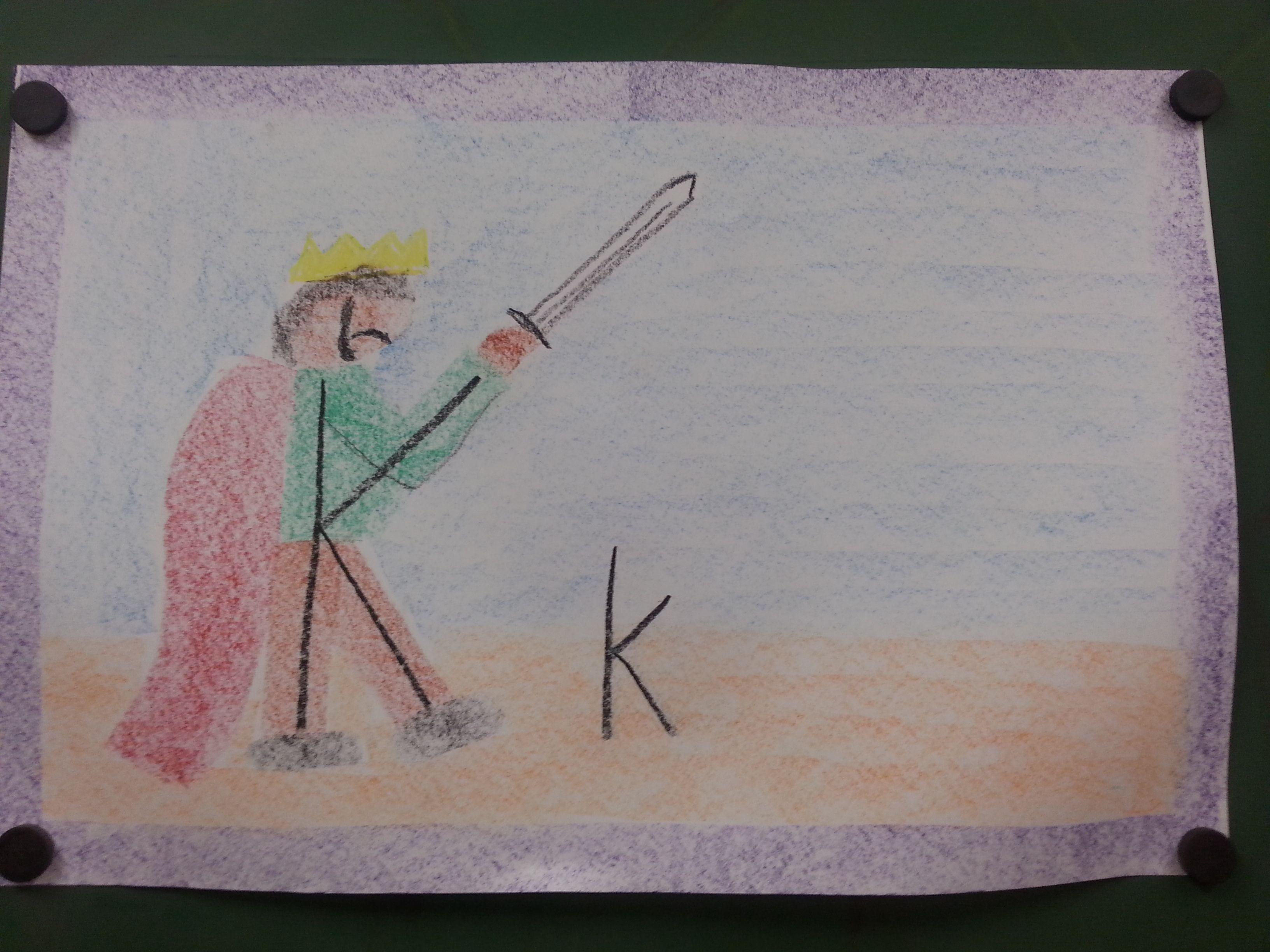 King K Waldorf Letters Grade 1