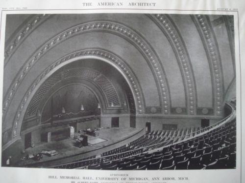 Hill Memorial Hall, University of Michigan in Ann Arbor MI, 1913. Albert Kahn