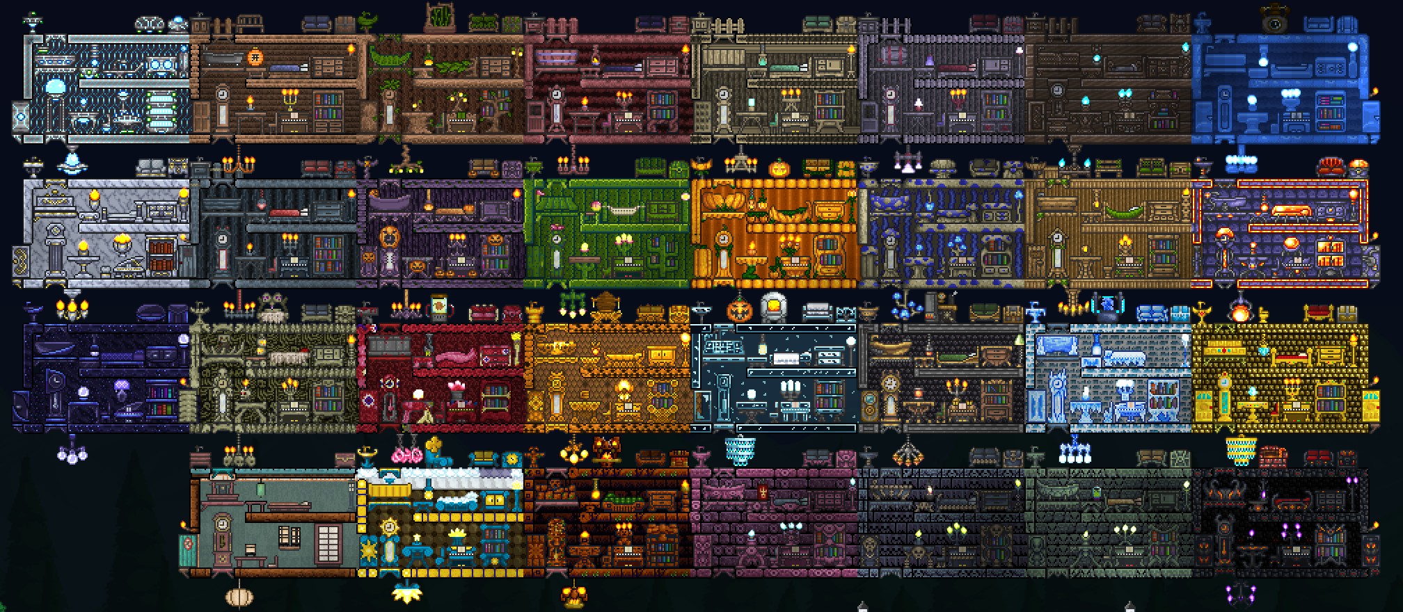Terraria Model Homes Updated For 1 3 0 3 Terraria