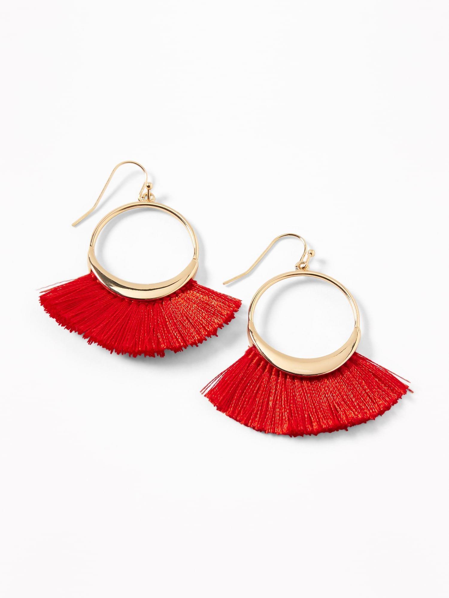 b0669d3da69e3 Fan Tassel Hoop Earrings for Women in 2019 | Jewelry(R) | Earrings ...