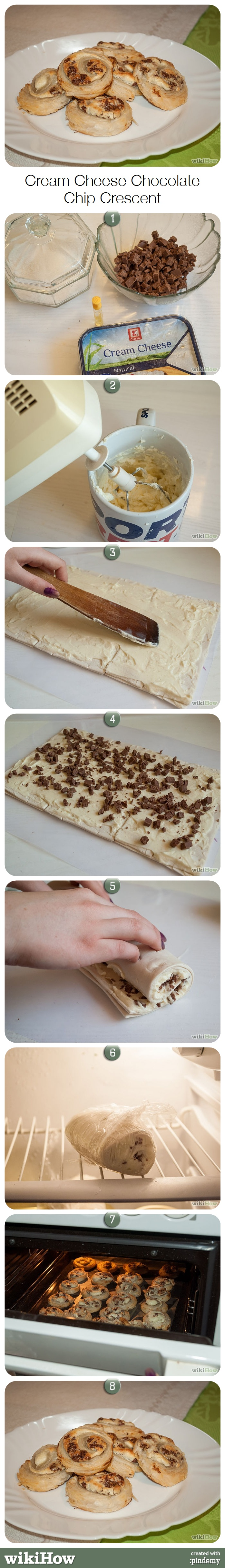 How To Make Easy Cream Cheese Chocolate Chip Cookies With Crescent Rolls Chocolate Chip Cookies Cheese Chips Cream Cheese Crescent Rolls