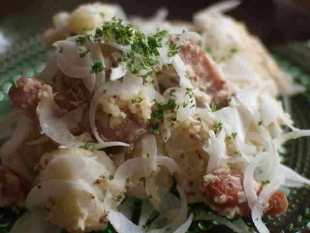 ジャーマンポテト風ポテトサラダ。の画像