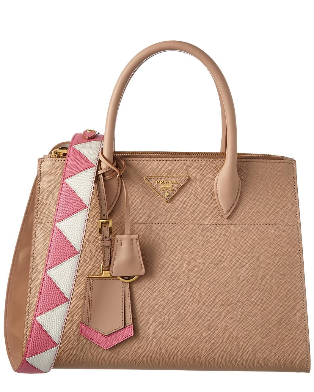 a0d2d28dc53f You need to see this Prada Paradigme Saffiano & City Calf Leather  Double Handle Zip