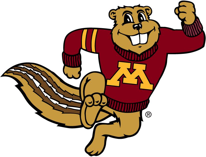 Minnesota Golden Gophers Mascot Logo Minnesota Golden Gophers Minnesota Gophers Gopher