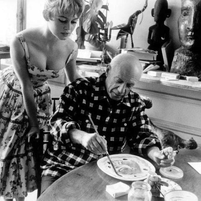 Bridget Bardot at Picasso's Studio