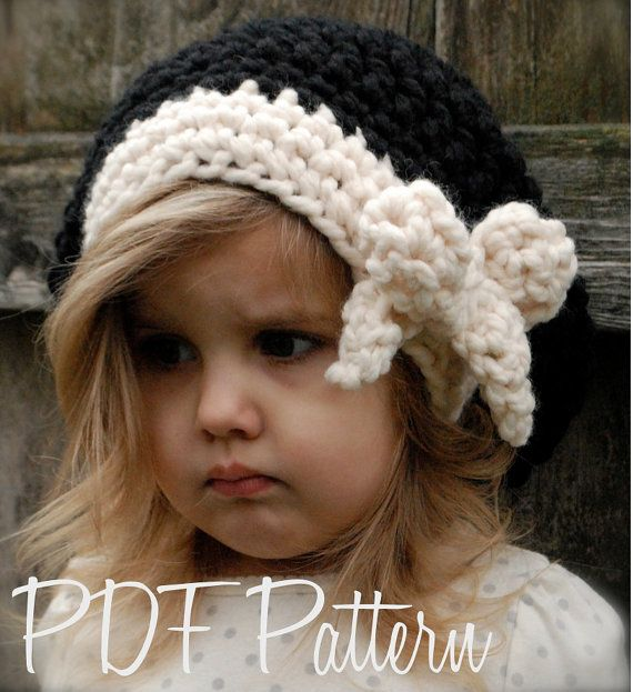 Crochet PATTERN-The Viyla Slouchy (Toddler, Child, and Adult sizes ...
