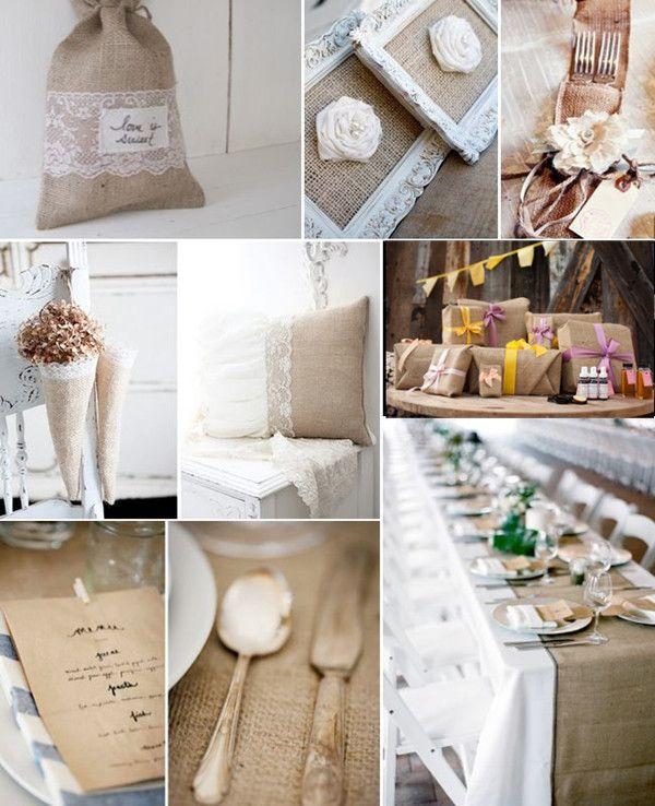 Hochzeit tischdeko mit jute im vintage stil deutschland for Hochzeitstafel deko