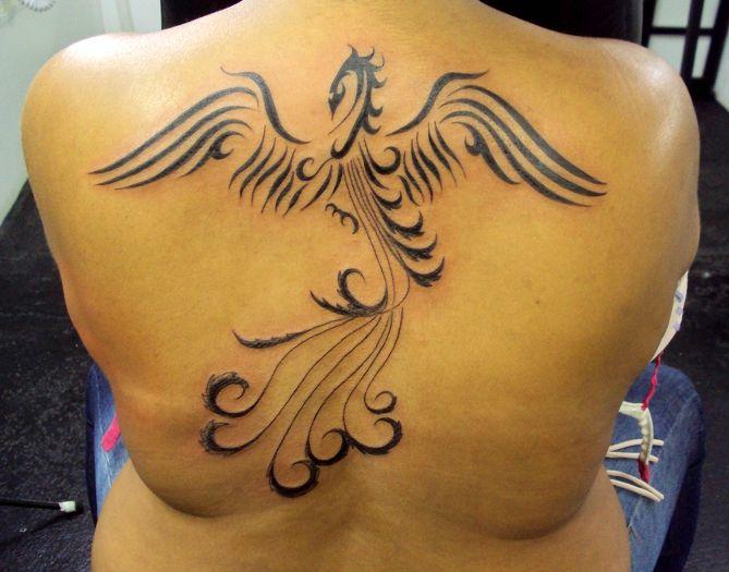 Tatuagem f nix tribal costas tattoo phoenix for Fenix tribal tattoo