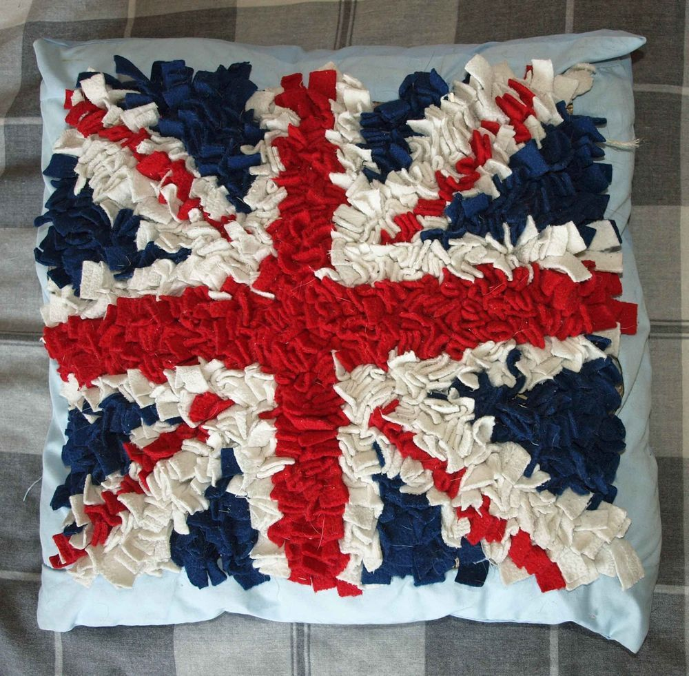 Rag Rug Cushion Kit Union Jack Flag