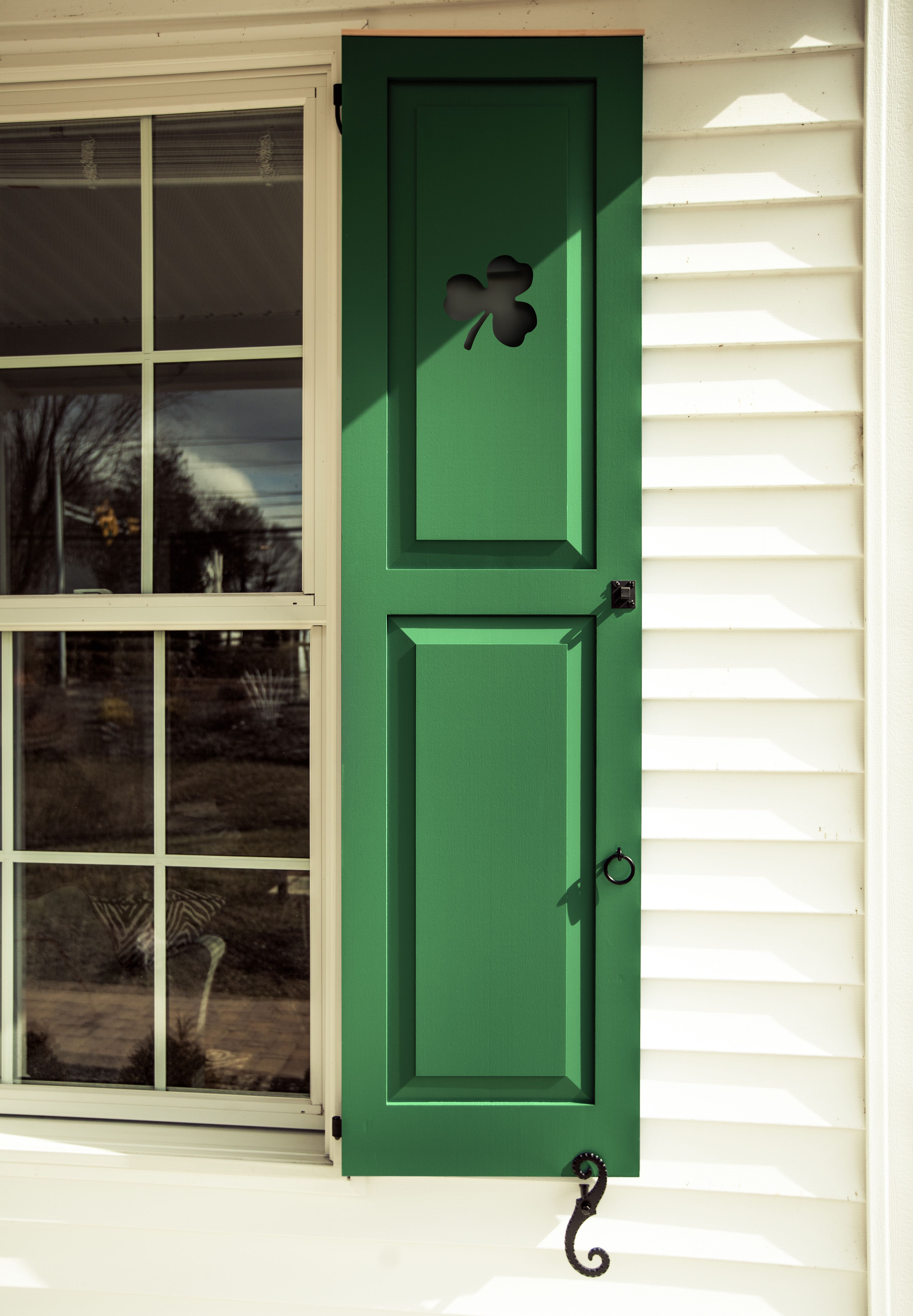 Happy St Patricks Day Get custom cut outs on your shutters at