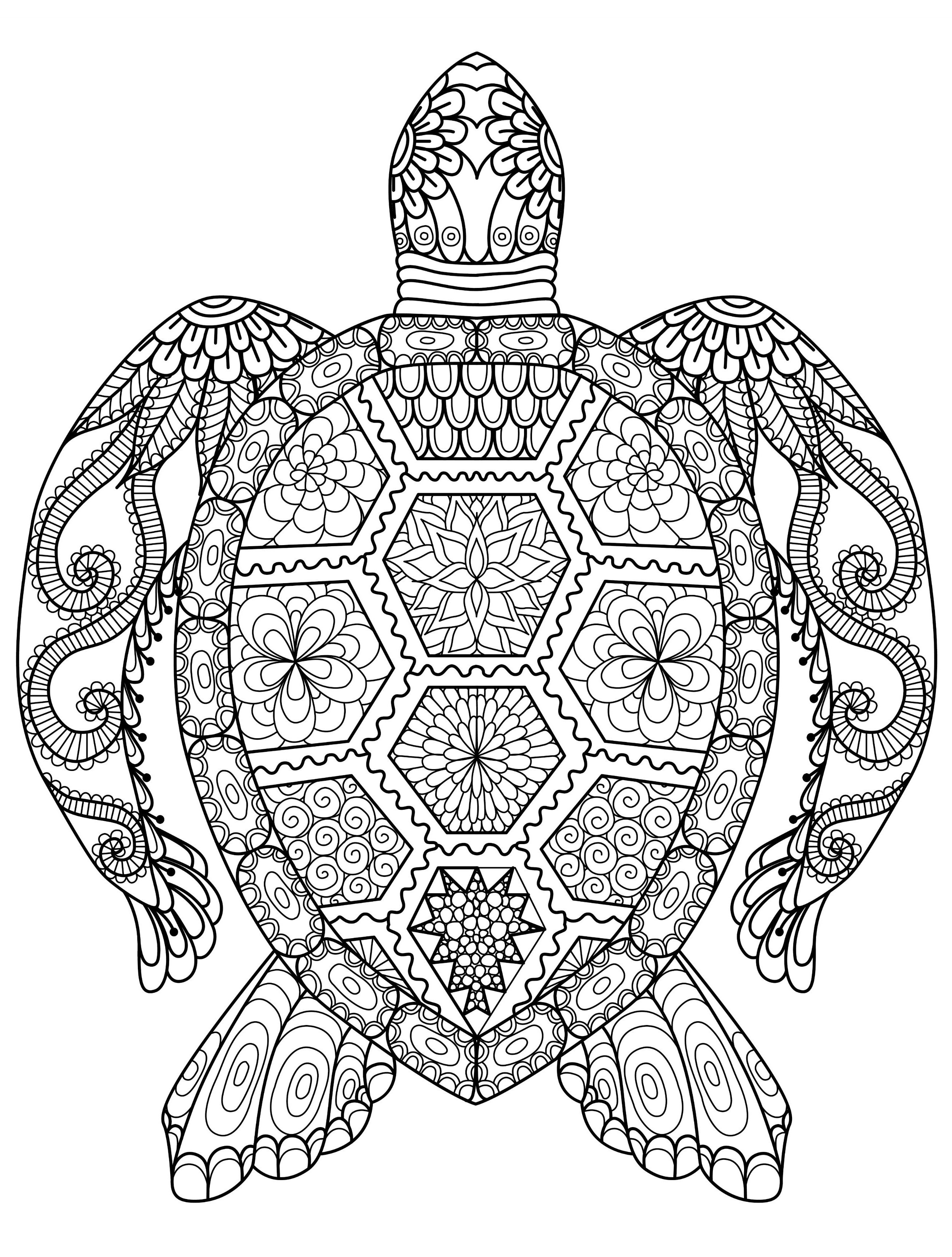 Coloring Games For Adults Turtle Coloring Pages Animal Coloring Books Mandala Coloring Pages