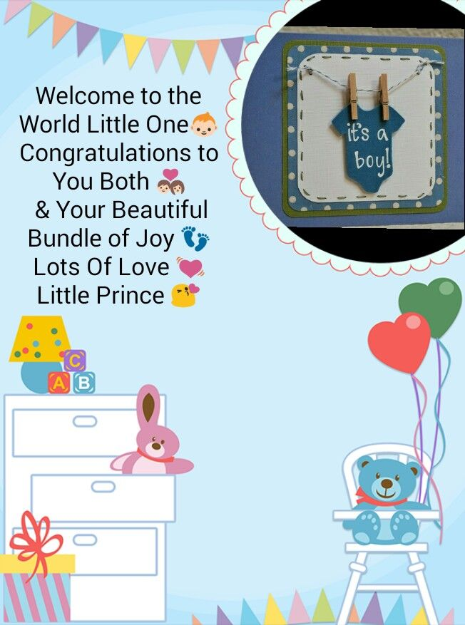 New Born Baby Boy Congratulations Card Wishes Cards Baby Baby