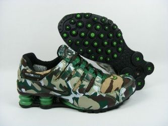 Camouflage NIKE SHOX! great site for all nike shoes 50% off omg