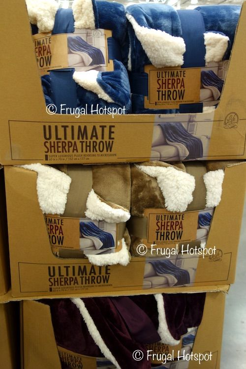 Costco Throw Blanket Adorable Life Comfort Ultimate Sherpa Throw#costco #frugalhotspot  Decor Inspiration Design