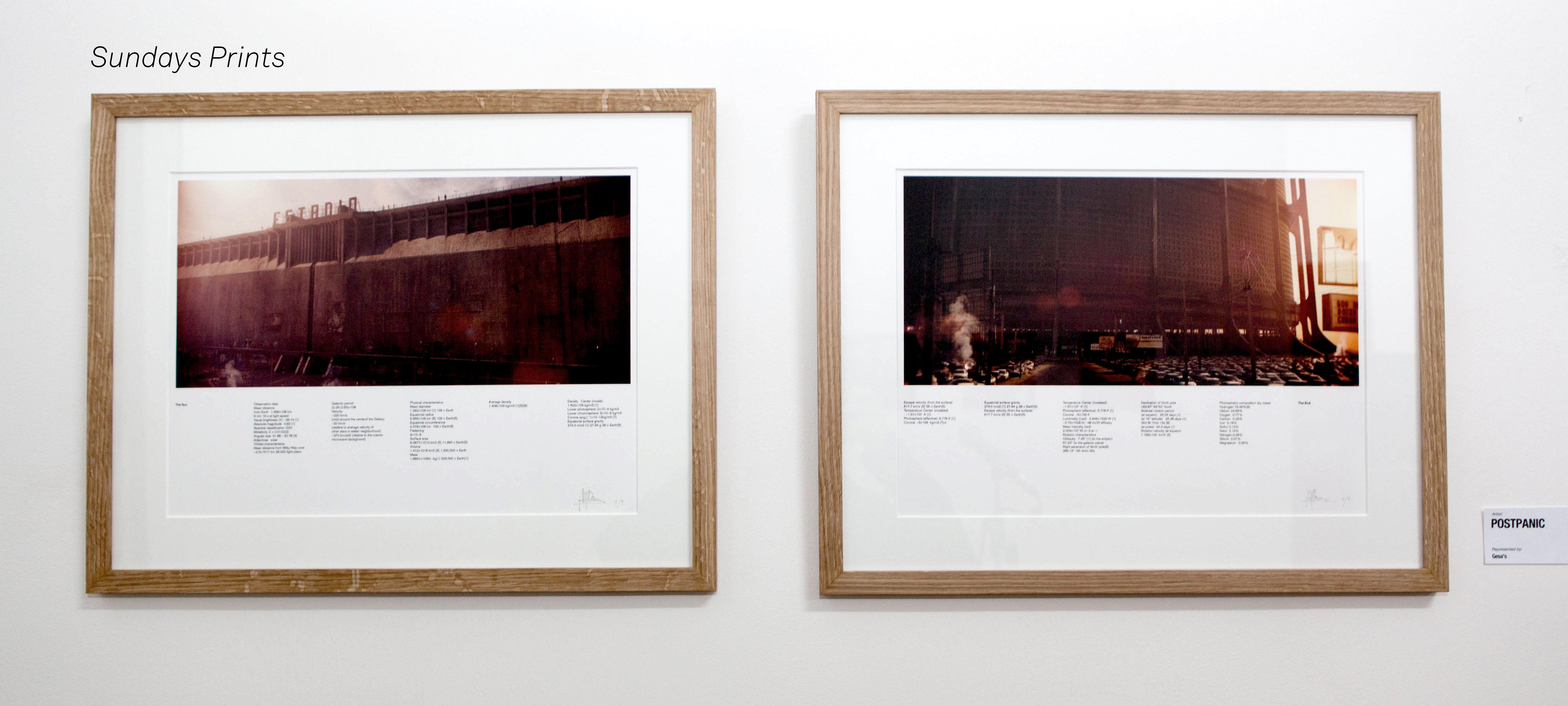 Sundays prints framed.