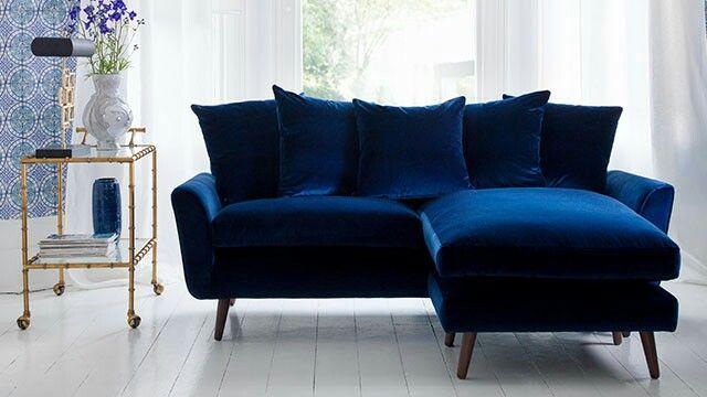 Arlo Jacob Bardolph Navy Velvet Sofa Chaise Sofa Sofa Uk Mid Century Sofa