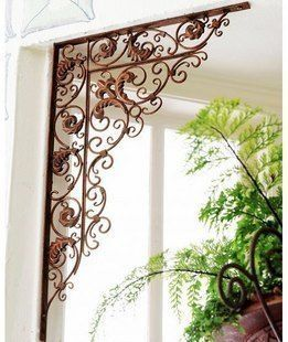 Wrought Iron Door Angle Parion Screen Decoration 7 100 86