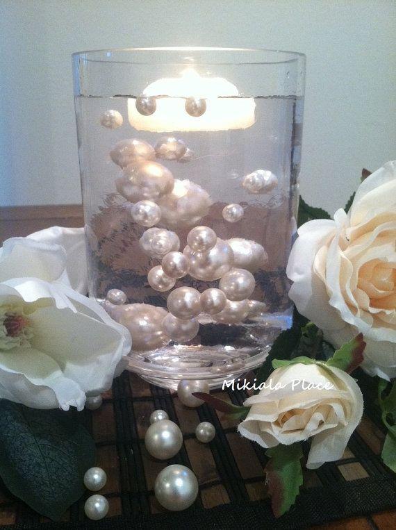 Ivorywhite Jumbo Floating Pearls For Vase Fillers Birthday