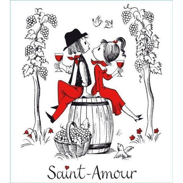 Saint Amour Cru Du Beaujolais Domaine Christian Miolane Les Amoureux De Peynet Peynet Paris Dessin