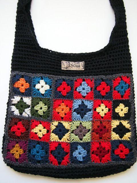 omakoppa.blogspot.fi virkattu laukku | Bag tote purse | Pinterest ...